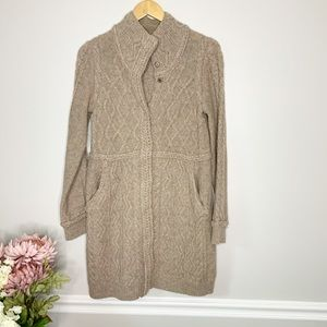 ANTHRO SPARROW Brown chunky cardigan sweater